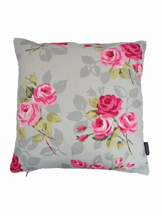 Nancy Rose Cushion Cover - Grey Living > Cushion covers