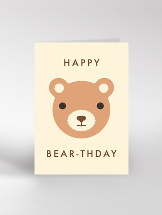 Happy Bear-thday card Living > Cards and Wrapping