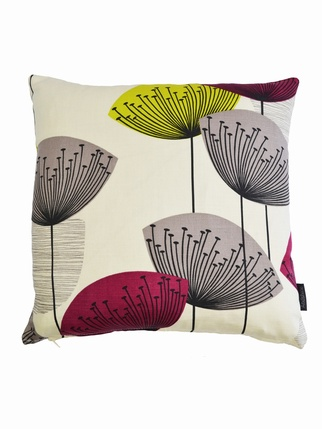 Sanderson Dandelion Clocks Cushion Cover - Blackcurrant Living > Cushion covers