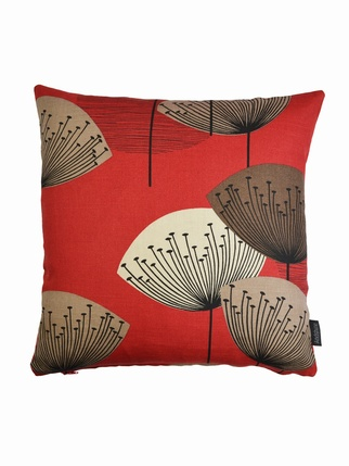 Sanderson Dandelion Clocks Cushion Cover - RED Living > Cushion covers