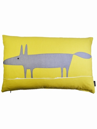 Mr fox cushion cover - Yellow Living > Cushion covers