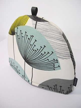 Sanderson Dandelion Clocks Tea Cosy - Chaffinch Kitchen > Tea Cosies