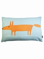 Mr fox cushion cover - Blue
