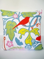 Swedish Kinnamark Cushion Cover - Kvitter Birds