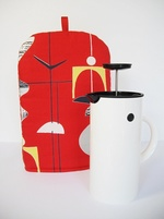 Sanderson Mobiles Coffee Cafetiere Cosy - RED