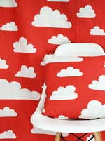SALE - Swedish fabric Farg & Form Clouds - Red