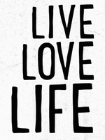 SALE - Live Love Life Print - Seventytree
