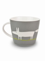 Scion Living Mr Fox mug - Charcoal & Lime