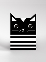 Dickybird monochrome Cat card